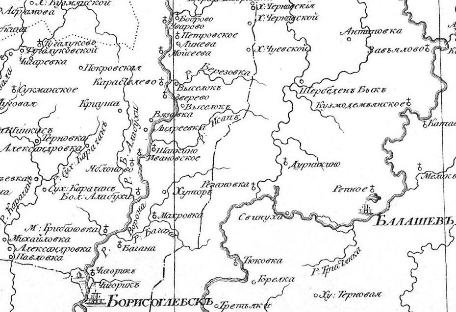 На картах начала XV111 века