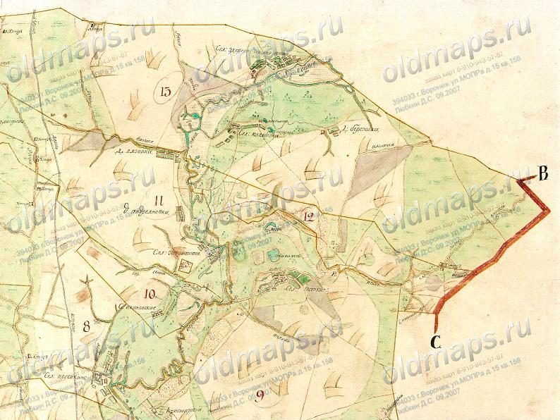 а Генеральный план 1790
